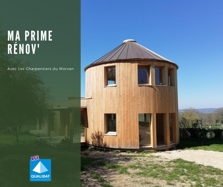 Ma prime rénov - Maison ossature bois Bourgogne Franche Comté